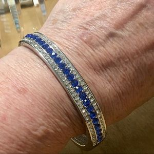 QVC Jewelry - Jaqueline Kennedy Sapphire Bangle